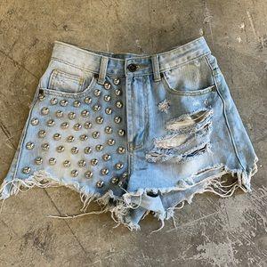 Rare unif studded shorts 25